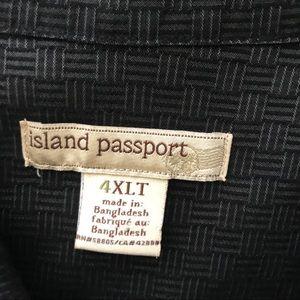 Black short sleeve shirt ISLAND PASSPORT 4XL
